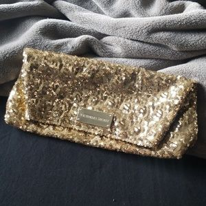Victoria's Secret Gold Sequin Clutch
